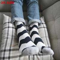 fashion brands business casual men socks stripe cotton socks Breathing socks 5pairs/lot wholesale waves socks men high quality