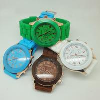 Geneva Casual Watch Women Dress Watch 2014 Quartz Military men Silicone watches Unisex Wristwatch Sports watch