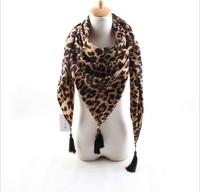2014 fall new Korean cashmere scarf big European and American style retro leopard print scarf shawl wholesale