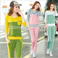 Slim fit hot sale plus size women autumn tracksuits sportswear,fashion Korea style women's sport suit clothing set