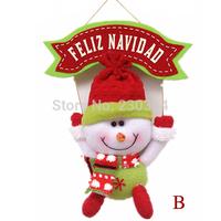 FreeShipping 10pcs New Year 's toys Merry Christmas Tree Decorations Santa Claus Snowman Hanger dolls Xmas Party Decoration36142