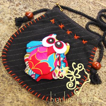 Бянь ло этническом стиле ткань диагональ сумки подходит для малого возраста сова простой и элегантный