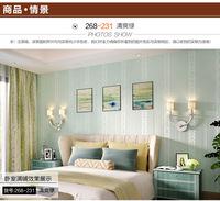 2015 Papel De Parede Infantil Photo Wallpaper American Continental Vertical Stripes Woven Flocking Wallpaper Bedroom Tv Backdrop