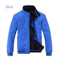 Plus Size XL-6XL Autumn Brands Men's Jackets Double-sided Wear Waterproof Outerwear Jacket for Man Blue Black Casual Coat 30159