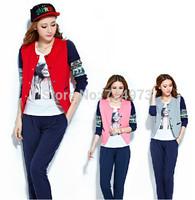 New arrival 3 pieces 1 set hot sale women tracksuits clothing set,casual sport suit fashion jogging suits plus size design