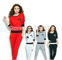 Hot sale slim fit women clothing set for autumn winter,jogging suits for women fashion tracksuits sport suit sportswear clothes