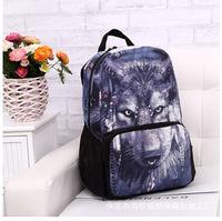 2014 leopard school backpacks, best selling animal Printing the school knapsack,shoulder bag,Women Backpack,Male backpack