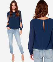 European  Fashion Women Loose Long-Sleeved Shirt