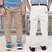 Special children's children casual pants Korean boy tide skinning wild solid color long pants kids suit pants 2014 new autumn