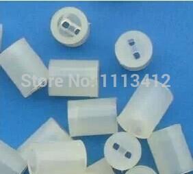 Matériaux d'isolation et éléments en plastique blanc inulation gaines 3 MM LED spacers tube 5 MM hauteur 5 * 5 MM(China (Mainland))