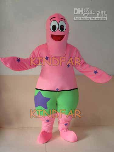 Hot sale 2014 Adult PATRICK SEA STAR Starfish Stelleroid Mascot Costume Adult Fancy Dress Cartoon Party Outfits Suit(China (Mainland))