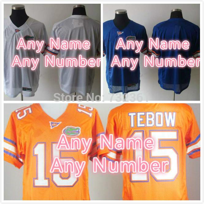 Cheap Customized stitched Personalized Florida Gators Jerseys White Blue Orange College Football Jerseys For Men Women Kids(China (Mainland))