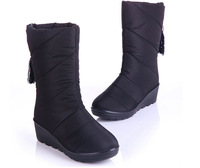 2014 winter boots slope with snow boots warm slip on down shoes round toe shoes woman boots warm fashion boots