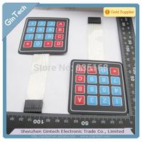 free shipping 5pcs/lot  Tactile Scratch 4*4 16 touch keyboard  4X4 keyboard 4*4 Membrane keypad 4x4 matrix keyboard