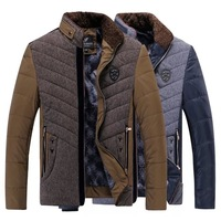 M-3XL 2014 winter jacket men padding cotton casual down jacket parkas warm outdoors thick outwear coats jackets for men