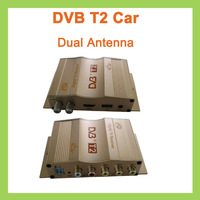 5Pcs/lot DHL 80-120km/h DVB-T2 HD DVB T2 TV Receiver TV Tuner Support MPEG4 Dual Antenna Set Top Box For Car Digital Reciever