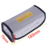 High Quality Square LiPo Safe Battery Charging Box Guard Bag Sack Pouch Fire Resistant 185x75x60mm For RC Battery
