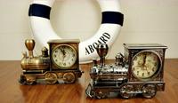 New Design ClassicTrain Alarm Clock Cool Fashion Analog Quartz Watch Shape Creative Retro Upscale Home Christmas Birthday Gift