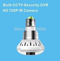 NEW E27 bulb CCTV Security DVR HD 720P IR Camera with TF card slot, Bulb type camera