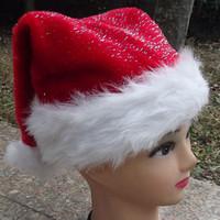 2pcs/lot Christmas gift Christmas decoration quality plush christmas hats santa claus hat hair ball christmas hats