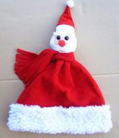 4pcs/lot Christmas hat quality child plush christmas hats three-dimensional christmas cap Christmas hair accessory