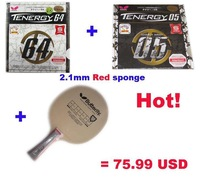 Butterfly PRIMORAC CARBON Table Tennis Blades+Butterfly tenergy 64+05