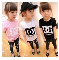 Retail 1 pcs 2014 summer children brands clothing,girls boys fashion short sleeve t shirts,fashion cotton top tees