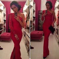 2014 free ship red fashion lace sexy fashion