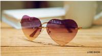2014 New fashion sunglasses women brand designer mix colors heart sunglasses sun glasses female