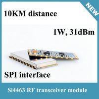 2pcs 1W Si4463 10km distance 433mhz rf power module with low power consumption Impact resistant