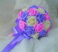 Hot Sale  Artificial Bride Hands Holding Rose Supernova Sale! bridesmaid Hand Flower/Wedding Throw Bouquet/Photography Props