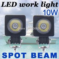 2x10W Round CREE LED Work Light Bar Spot 800LM Driving Reverse 4WD Lamp 12V 24V
