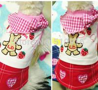 Pet delicate denim skirt pet clothing