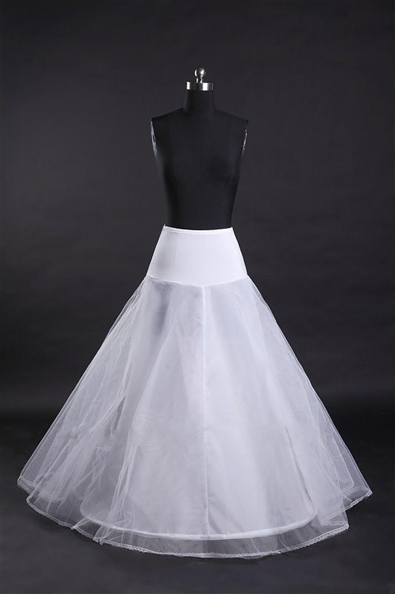 sale a line petticoats for wedding dress white
