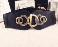 European and American style retro palace black elastic belt,wide belt,wide belt  leather women,women's  belt