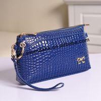 100pcs/lot Women Messenger Bags Stone Pattern Women Handbag Female Leather Clutch Wristlet Evening  Cosmetic Purse Fashion Bags