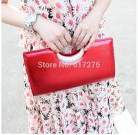 2014 New Womens Clutch Bags Evening Clutch Purses Shoulder Bags Designer Handbags High Quality Clutch Black/Red/Gold/Silver