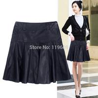 Women PU skirt new arrival black a-line skirts slim small fresh autumn and winter pocket skirts M , L, XL, XXL, XXXL, 4XL