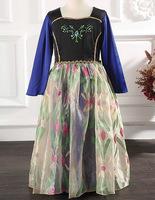 New Arrival Cartoon Summer Dress Girl's Lovable Princess Clothing Kids Custom Dress