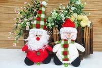 Free Shipping 10pcs Merry christmas tree toys decorations set santa claus doll new year Home decor Xmas Party Decoration 28372