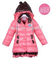 New 2014 frozen children outerwear, girls winter jacket,warm down kids jacket , baby clothing,Free Shipping