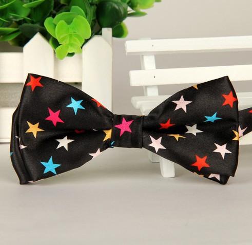 Новый 2014 мода мужская полиэстер шелковый галстук в полоску / леопард / плед галстуки-бабочки свободного покроя бабочка галстук горячая распродажа бесплатная доставка