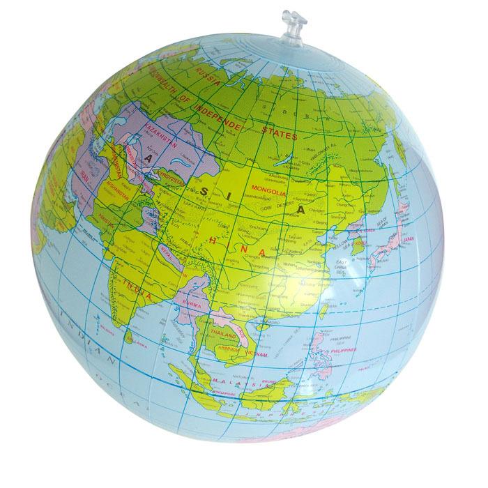 Sanwony 40CM Inflatable World Globe Teach Education Geography Toy Map Balloon Beach Ball Freeshipping(China (Mainland))