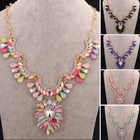Aliexpress Hot Sale 2014 Fashion Jewelry Fine Necklaces Gem Stone Bijoux Maxi Colar Brand Women Pendant Necklace Christmas Gift