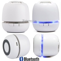 2014 New White  Wireless Bluetooth Portable Stereo Versatile Speakers For iPhone Samsung PC Support TF Card   Free Shipping