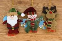 FreeShipping 10pcs New Year's Toys Merry Xmas tree decorations Mini Hanger dolls ornament Xmas Tree bauble Party Decoration36250