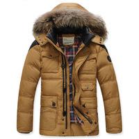 duck down jacket men waterproof mens clothing outwear winter padded jacket thick warm Down Parkas coat hot Europe style