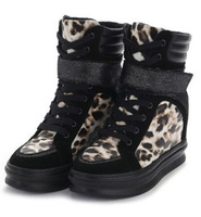 NEW Women High Lace Up On The Hidden Wedge Heels Boots Shoes Platform Womens Color Black White