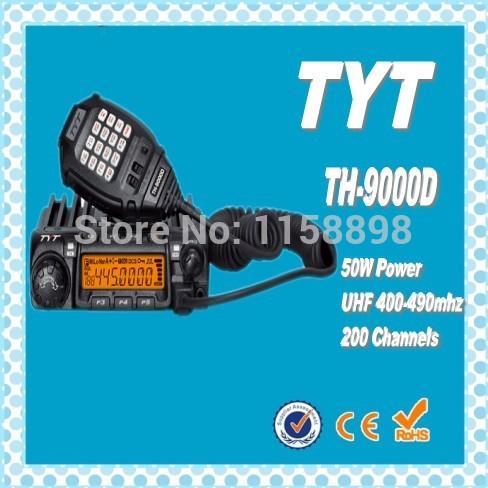 DHL freeship+New TYT TH-9000D Mobile ham radio 50W 200 Channel amateur radio transceiver th 9000d long range walkie talkie 30km(China (Mainland))