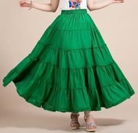 2015 NEW women's chiffon bohemian beach skirts,plus size casual maxi expansion skirt,fashion Princess cake skirts
